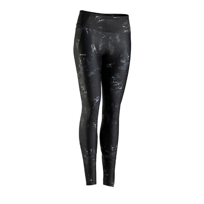 女款網球緊身褲LEG TH900-圖案款