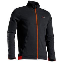 保暖網球外套TJA500 - 黑/橘