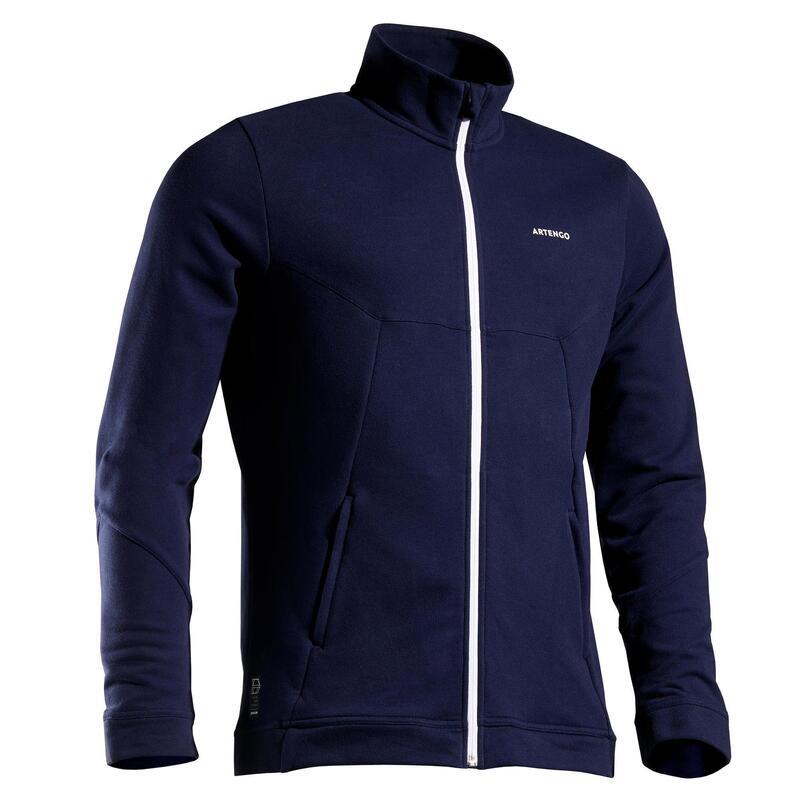 Bluză de Trening Călduroasă Tenis TJA500 Bleumarin Bărbați