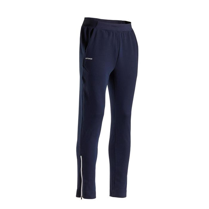 Tennisbroek voor heren TPA500 marineblauw/wit