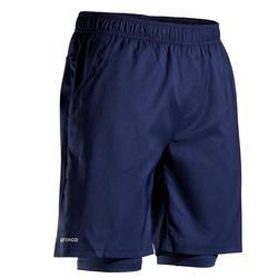 Tennisshort voor heren 500 marineblauw