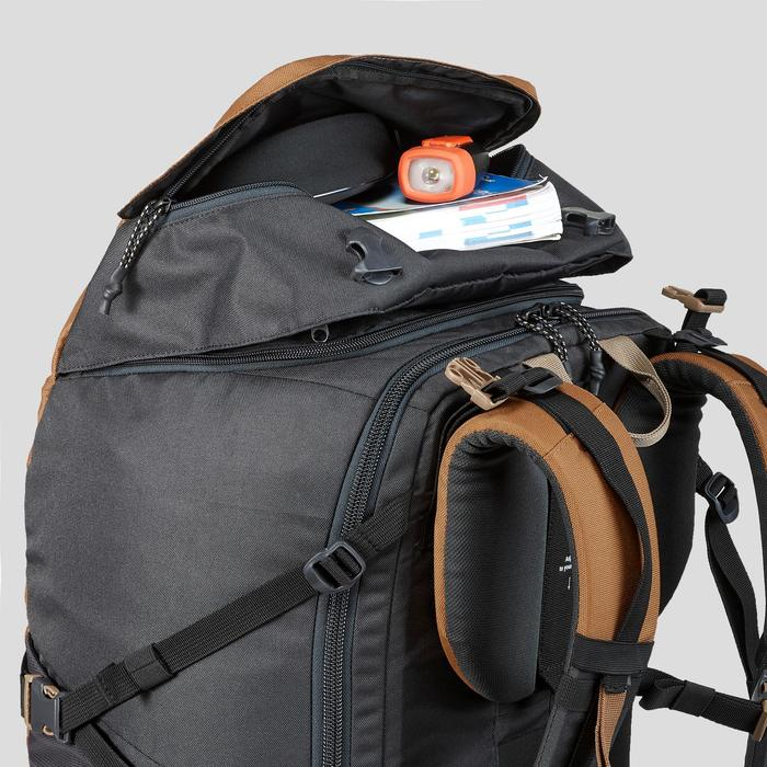 Rugzak voor backpacken Travel 100 60 liter camel