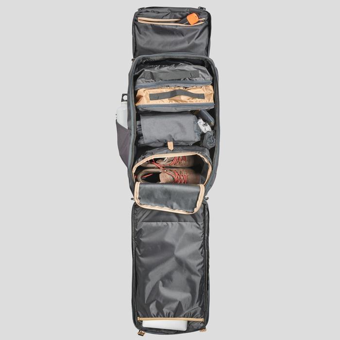 60 L健行旅行帆布背包|TRAVEL 100-卡其色