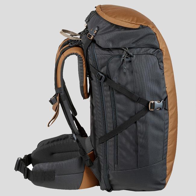 60 litre trekking travel rucksack _PIPE_ TRAVEL 100 - Camel