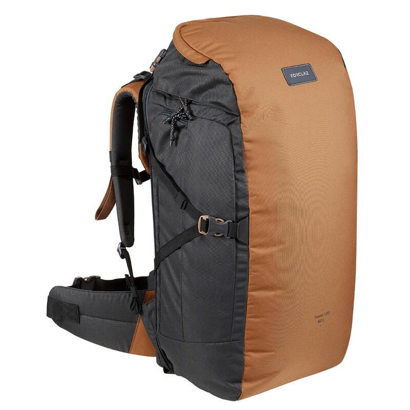 Trekking Travel Rucksack 60 Litres | TRAVEL 100 - Camel