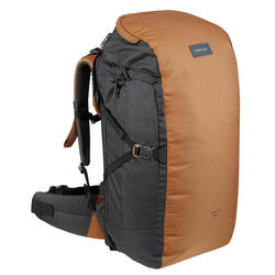 Trekking Travel Backpack 60 Litres _PIPE_ TRAVEL 100 Camel