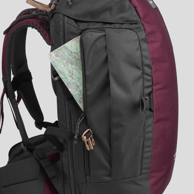 Backpack TRAVEL 100 40L- Maroon