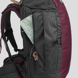 Trekking Backpack 40 Litres | TRAVEL 100 - Maroon