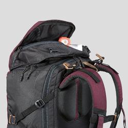 登山健行背包Travel 100 40 L-褐紅色