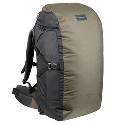 Trekking Travel Backpack 60 Litres _PIPE_ TRAVEL 100 Khaki