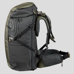 Rugzak voor backpacken Travel 100 60 liter kaki