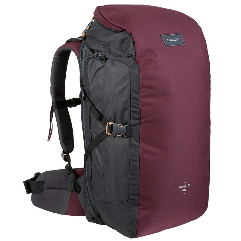 BACKPACKS 40L TO 70L TRAVEL TREKKING Trekking - BACKPACK TRAVEL 100 40 L - BGD FORCLAZ - Trekking