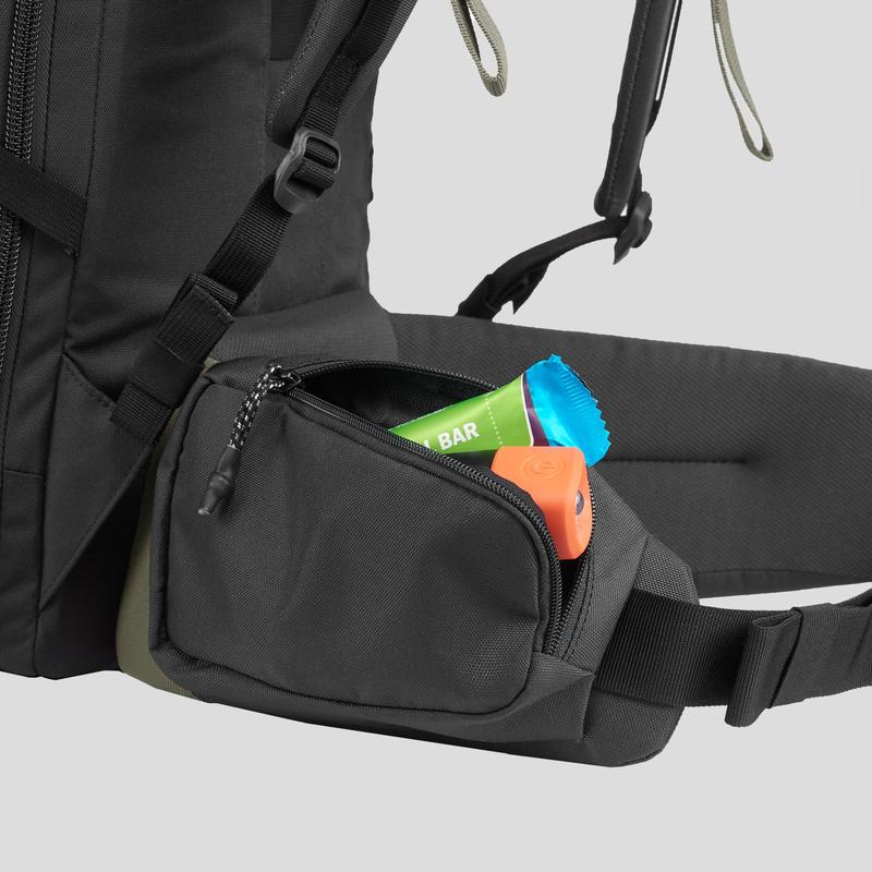 Trekking Travel Backpack 60 Litres _PIPE_ TRAVEL 100 - Khaki