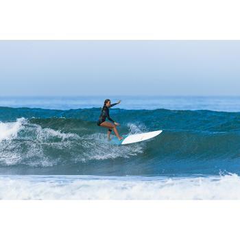 Tabla Surf Rígida Longboard Olaian 900 9' Adulto Blanco Azul Quillas