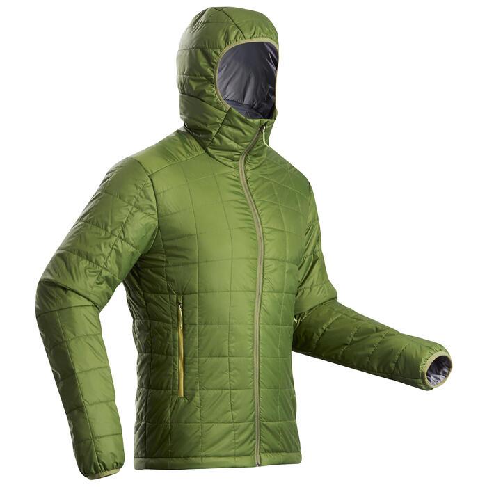 Gewatteerde jas heren Trek 100 groen