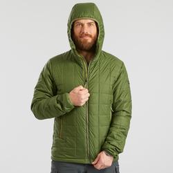 Wattierte Jacke Trek 100 Kapuze Herren grün