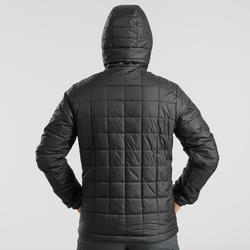 Abrigo Chaqueta acolchada Montaña y Trekking TREK 100 capucha hombre negro