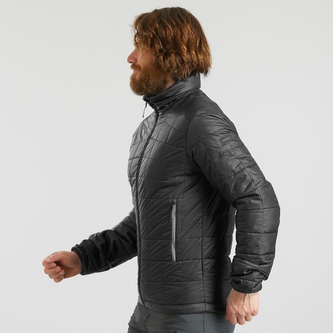 Men's Mountain Trekking Padded jacket - TREK 100 - Black