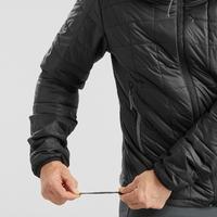 Men's Synthetic Mountain Trekking Padded Jacket - TREK 100 -5°C - Black