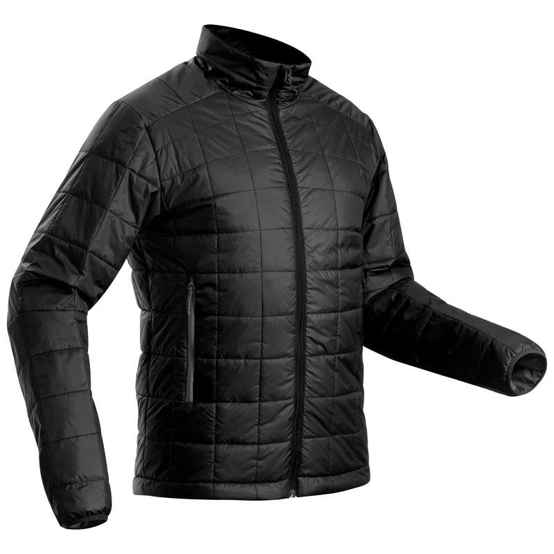 MEN DOWN JACKET, VEST MOUNTAIN TREK Trekking - M padded jacket TREK 100-Black FORCLAZ - Trekking