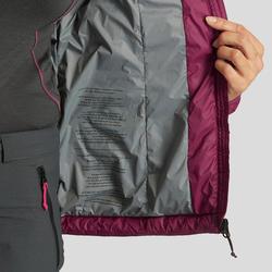 Manteau de randonnée en montagne RANDO 100 femme violet