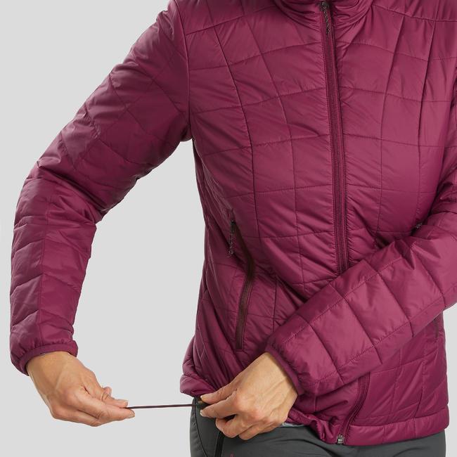 Women's Mountain Trekking Padded Jacket TREK 100 - Purple