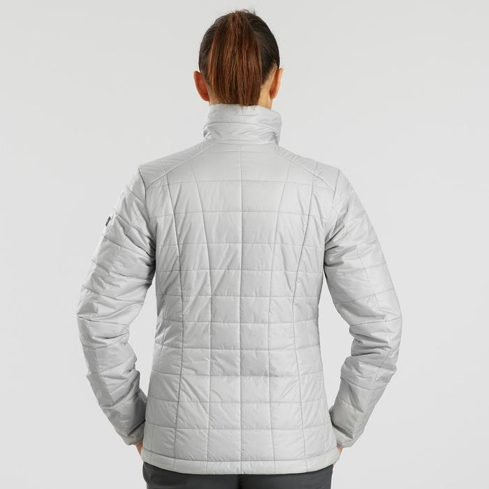 Gewatteerde jas voor bergtrekking dames Trek 100 grijs