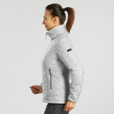 Жіноча куртка 100 для гірського трекінгу - Сіра