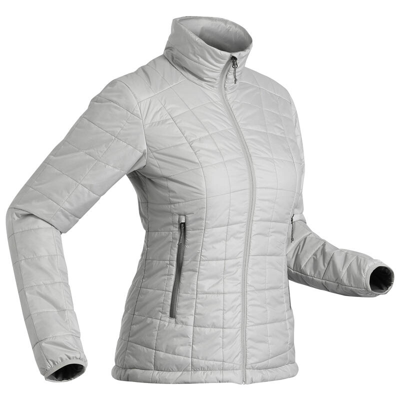 Women's Mountain Trekking Down Jacket TREK 100 - Grey