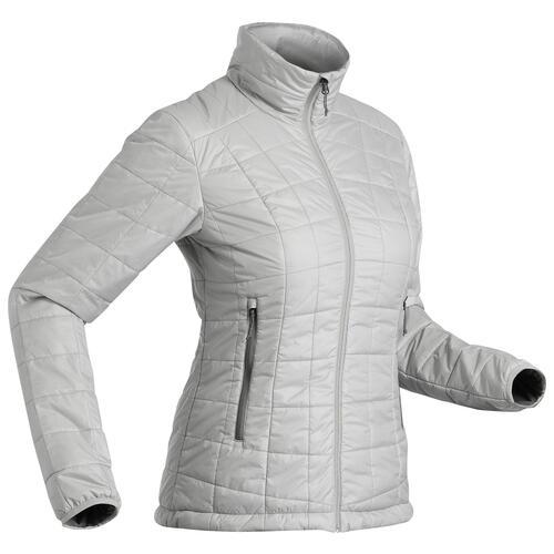 Doudoune synthétique de trek montagne - MT 100 -5°C - Grise - Femme