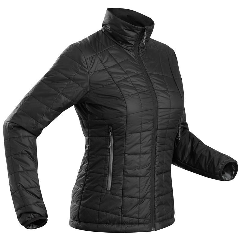 Manteau de randonnée en montagne RANDONNÉE 100 femme noir