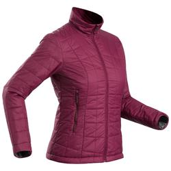 Gewatteerde jas voor bergtrekking dames Trek 100 paars