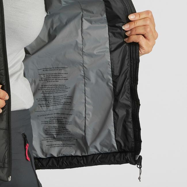 Mountain TREKKING TREK 100 women's padded sleeveless gilet, black