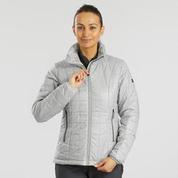 Manteau de randonnée en montagne RANDONNÉE 100 femme gris
