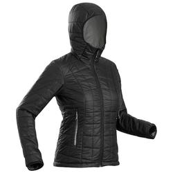Women's Hooded Mountain Trekking Down Jacket TREK 100 - Black