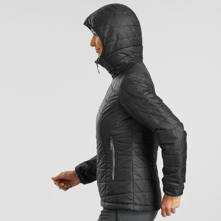 Women's Mountain Trekking Hooded Down Jacket TREK 100 Black