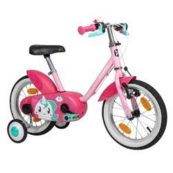 Kinderfahrrad 14 Zoll Unicorn 500 rosa/pink