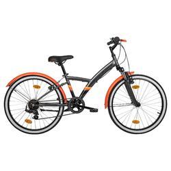 Trekkingrad Kinderfahrrad 24 Zoll Original 500S dunkelgrau/orange