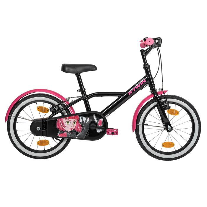 Kinderfahrrad 16 Zoll Spy Hero Girl 500 schwarz/pink