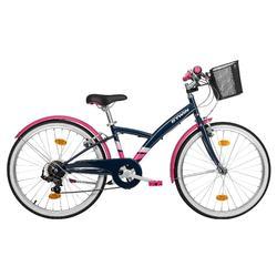Trekkingrad Kinderfahrrad 24 Zoll Original 500 dunkelblau/rosa