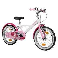 Kinderfahrrad 16 Zoll Docto Girl 500 weiß/rosa