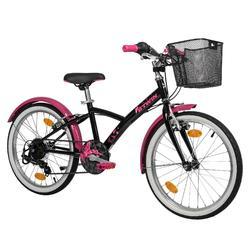 Trekkingrad Kinderfahrrad 20 Zoll Original 500 schwarz/rosa