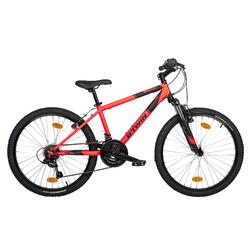 Mountainbike Kinder 24 Zoll Rockrider 500 orange/schwarz