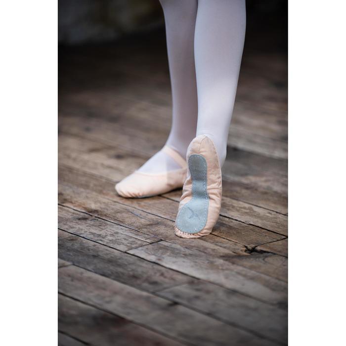 Ballettschuhe Halbspitze durchgehende Sohle Mädchen Stretch-Leinen lachsfarben
