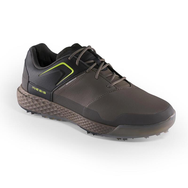 Pánská golfová obuv Grip Waterproof khaki