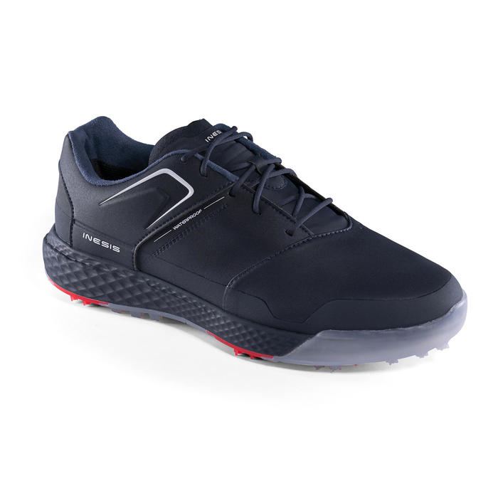 男款防水高爾夫球鞋GRIP-軍藍色