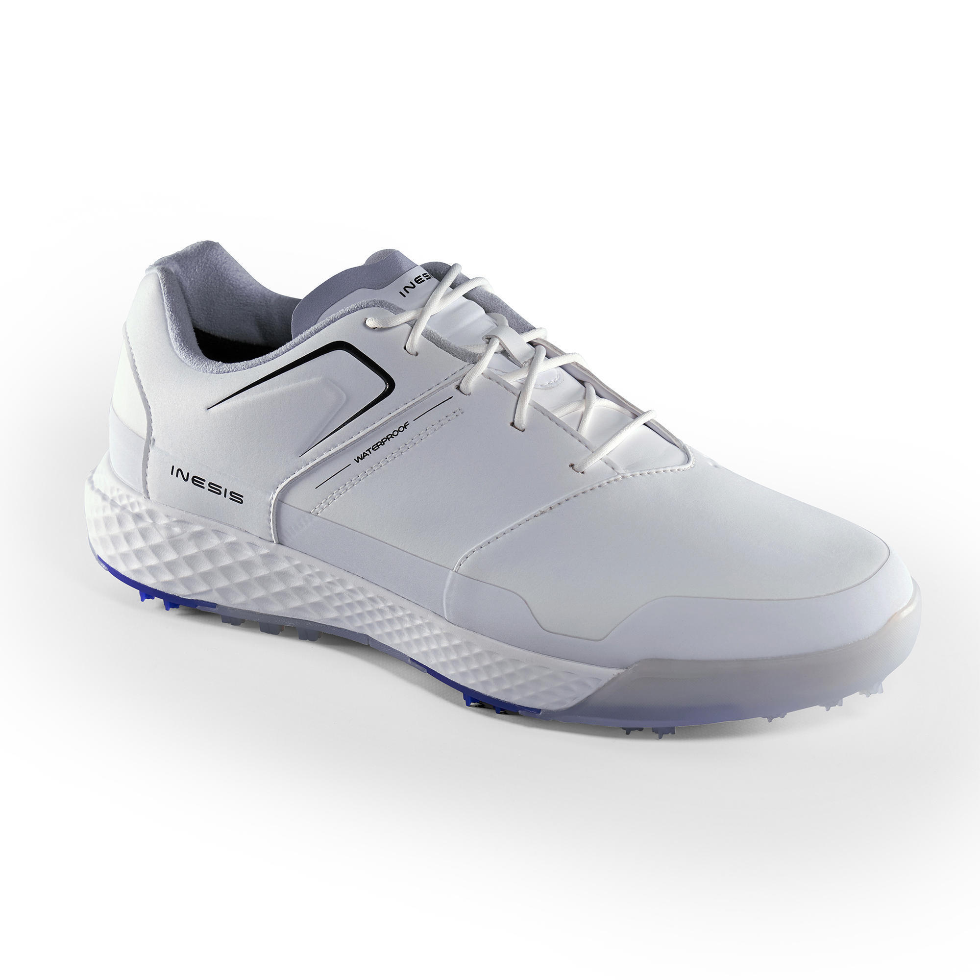 CHAUSSURES GOLF HOMME GRIP WATERPROOF BLANCHES - Inesis