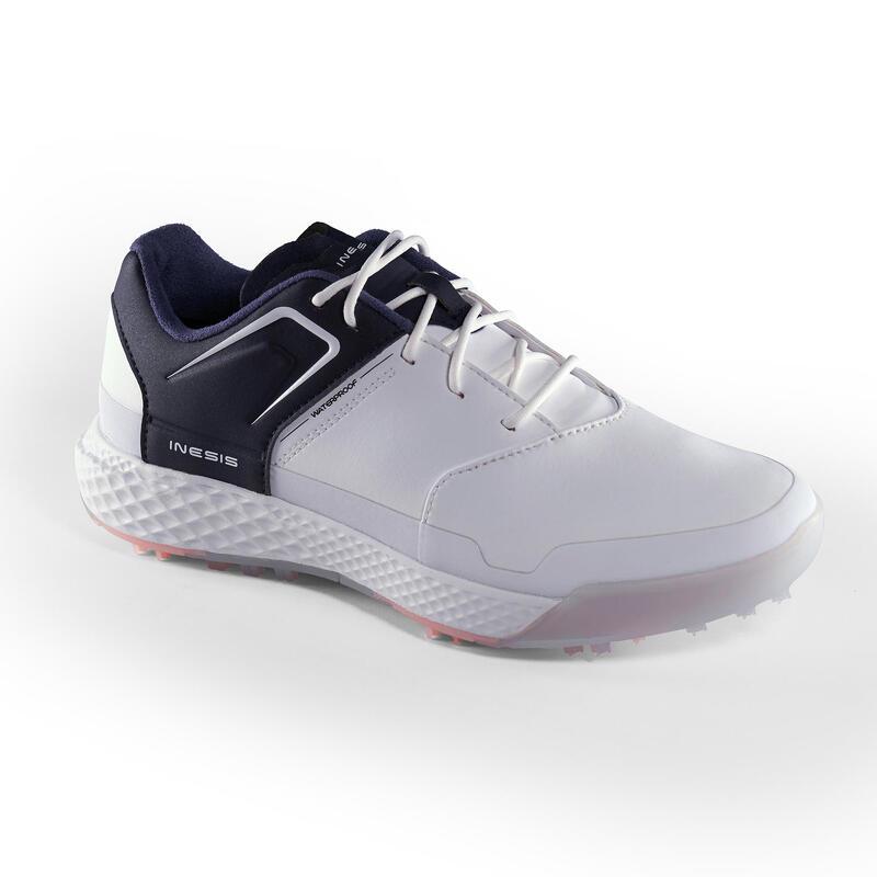 Dámské golfové boty Grip Waterproof bílo-tmavě modré