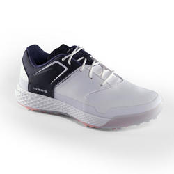 WOMEN'S WATERPROOF GRIP GOLF SHOES WHITE AND NAVY