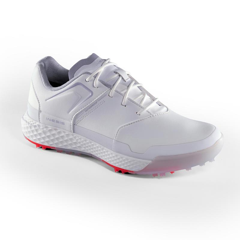Ladies Grip Waterproof Golf Shoes White Inesis Golf
